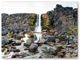 Öxarárfoss, im Þingvellir-Nationalpark